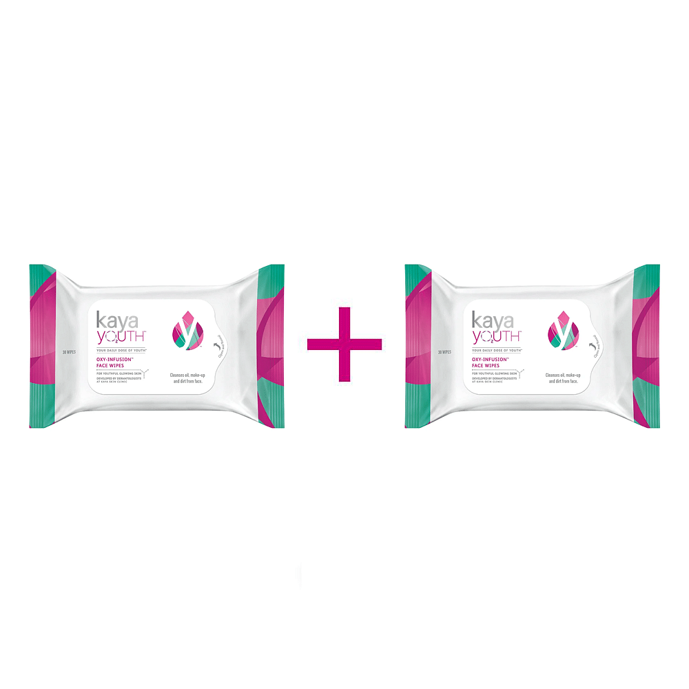 Oxy-Infusion Face Wipes - 30 wipes x Pack of 2